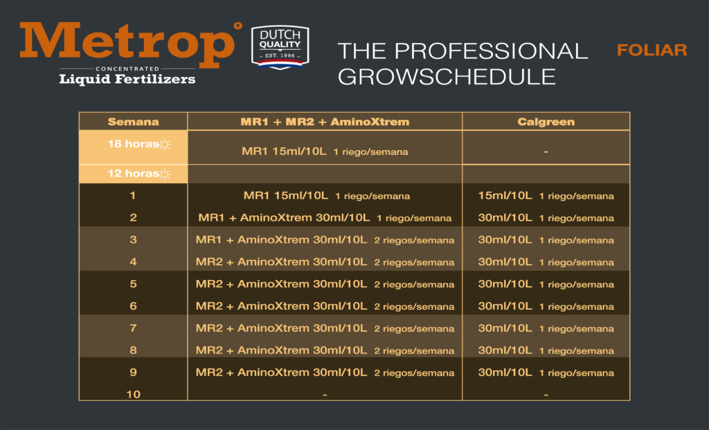 THE PROFESSIONAL GROWSCHEDULE METROP